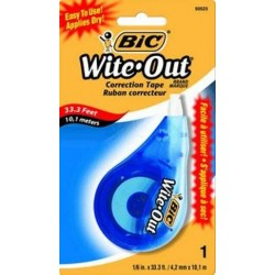 WITE OUT CORRECTION TAPE BLISTER PACK 1PK