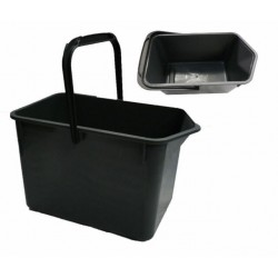 BUCKET REC BLACK HANDLE     9L