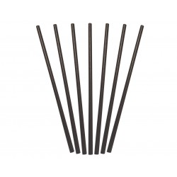 PAPER REGULAR STRAWS BLACK 250S