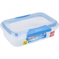 MATCH UPS OBLONG CONTAINER WITH CLIP LIDS 600ML