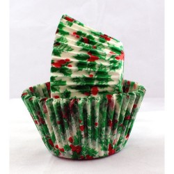 CHRISTMAS PATTY PANS HOLLY SIZE700 500S