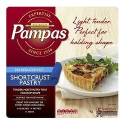 SHORTCRUST PASTRY REDUCED FAT 1KG