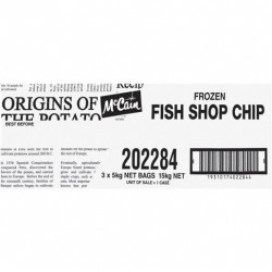 15MM FISH SHOP CHIPS 5KG