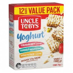 YOGURT TOPS VARIETY PACK MUESLI BAR 375GM 12PK