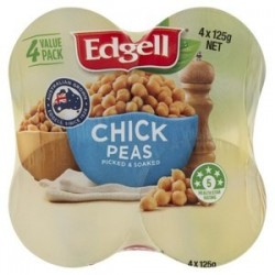 CHICK PEAS MULTIPACK 4X125GM