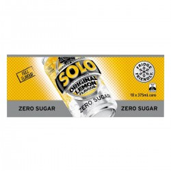 ZERO SUGAR LEMON SOFT DRINK 10X375ML