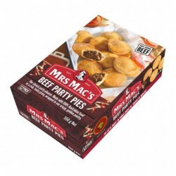 BEEF PARTY PIES 12 PACK 550GM
