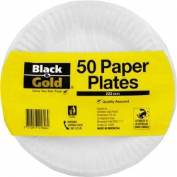 PAPER PLATES 225MM 50S
