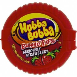 HUBBA BUBBA BUBBLE GUM STRAWBERRY TAPE...