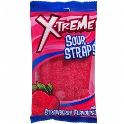 STRAWBERRY SOUR STRAPS 160GM