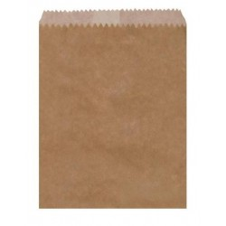 PAPER BAGS GREASEPROOF LINED 2 LONG BROWN 500S