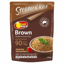 BROWN MEDIUM GRAIN RICE MIRCOWAVE 90 SEC 250GM