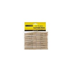 WOODEN CLOTHES PEGS 36PK