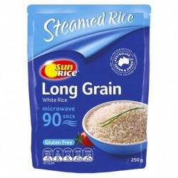 WHITE LONG GRAIN RICE MIRCOWAVE 90 SEC 250GM