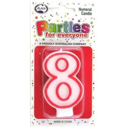 NUMERAL 8 CANDLES 1PK