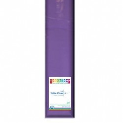 PURPLE PLASTIC TABLE COVER ROLL 1EA
