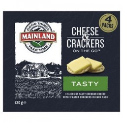 ON THE GO TASTY CHEESE and CRACKERS 120GM