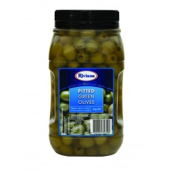 PITTED GREEN OLIVES 2KG