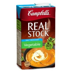 REAL SALT REDUCED VEGETABLE STOCK 1L