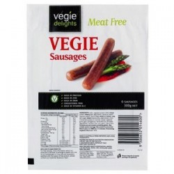 VEGIE DELIGHT VEGETARIAN SAUSAGES 300GM