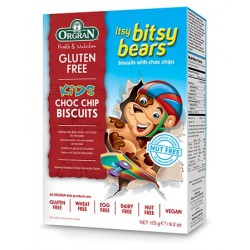 GLUTEN FREE ITSY BITSY BEARS CHOC BITS BISCUITS 175GM
