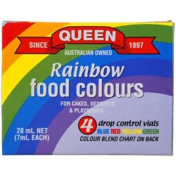RAINBOW FOOD COLOUR 4 PACK 7ML