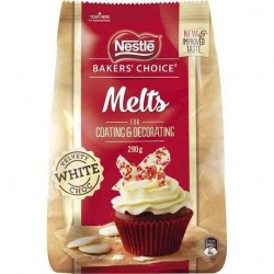 WHITE CHOCOLATE MELTS 290GM