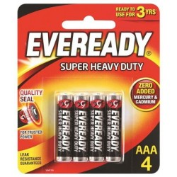 BLACK SUPER HEAVY DUTY AAA BATTERY 4PK