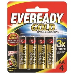 GOLD AA BATTERY 4PK