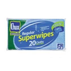 SUPERWIPES REGULAR BLUE 6CM X 3CM 20PK