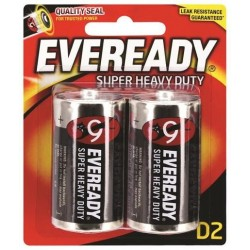 BLACK SUPER HEAVY DUTY D BATTERY 2PK