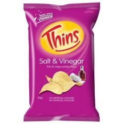 SALT AND VINEGAR POTATO CHIPS 45GM