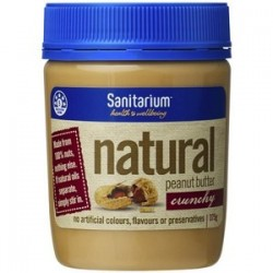 SANITARIUM NATURAL PEANUT BUTTER CRUNCHY 375GM