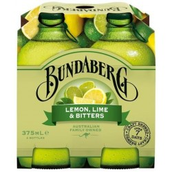 LEMON LIME AND BITTERS SOFT DRINK 24X375ML