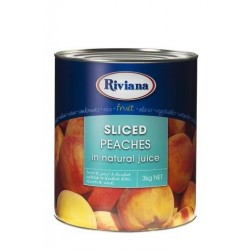 SLICED PEACHES IN NATURAL JUICE 3KG