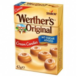 WERTHERS CREAM CANDIES SUGAR FREE 42GM