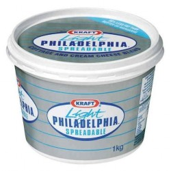 PHILADELPHIA CREAM CHEESE LIGHT SPREAD 1KG