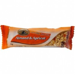 NUT BAR ALMOND AND APRICOT 55GM