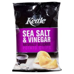 SEA SALT & VINEGAR NATURAL POTATO CHIPS 90GM