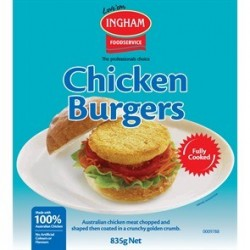 CHICKEN BURGERS 835GM