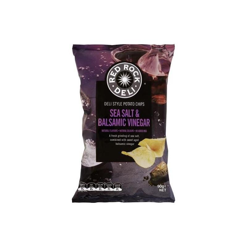 SEA SALT AND BALSAMIC VINEGAR POTATO CHIPS 12X90GM - Melbourne Food
