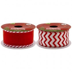 CHRISTMAS FABRIC RIBBON 3M