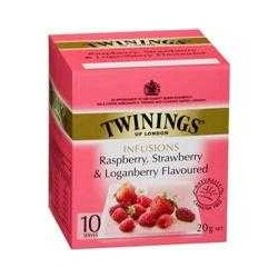 RASPBERRY, STRAWBERRY AND LOGANBERRY TEABAGS 10PK