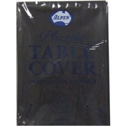 BLACK ROUND PLASTIC TABLE COVER 1EA