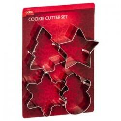 CHRISTMAS COOKIE CUTTER SET 4PK