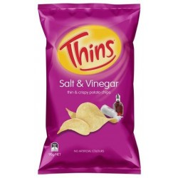 SALT AND VINEGAR POTATO CHIPS 90GM