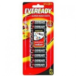 BLACK SUPER HEAVY DUTY AA BATTERY 10PK