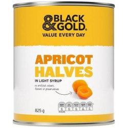 APRICOT HALVES IN SYRUP 825GM
