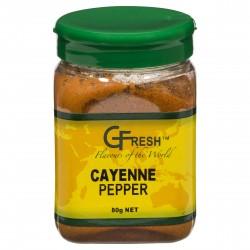 GFRESH CAYENNE PEPER      80GM