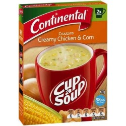 CHICKEN and CORN CUP-A-SOUP 2 SERVES 60GM